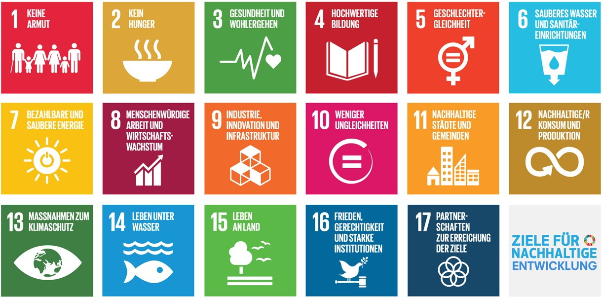 Die 17 Sustainable Development Goals